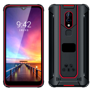 HiDON Octa core 6.26 inch Android 9.1 Smartphone 8G RAM+128G ROM 4G LTE Fingerprint Unlock Rugged Mobile Phone
