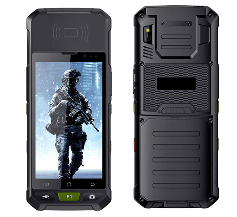 Factory 5 inch Android 7.0 Front NFC Rugged Phone MTK6737 4G LTE Industrial Phone Support PSAM Card Dual-band Wifi