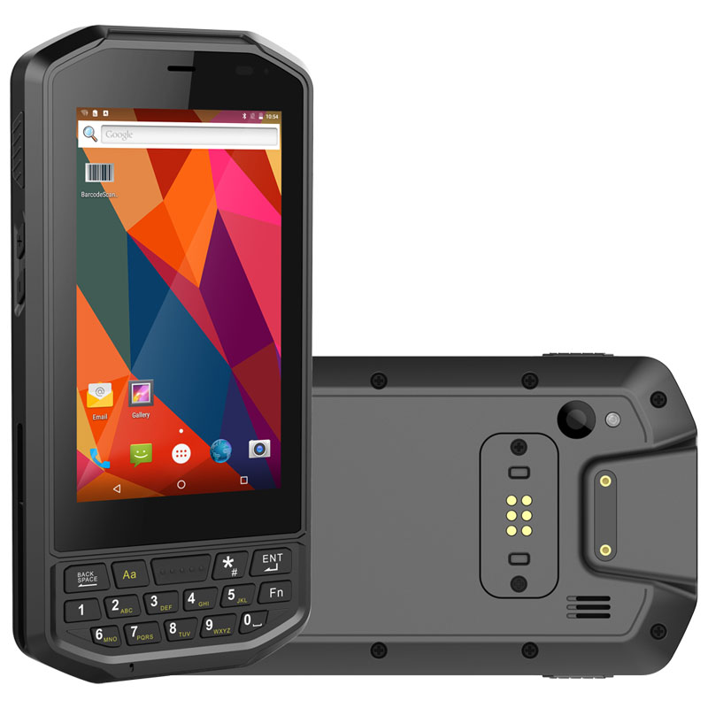 4 inch Android 8.1 2G+32G+4G LTE PDA with 2D Barcode Scanner Handheld Terminals IP65 Rugged PDA