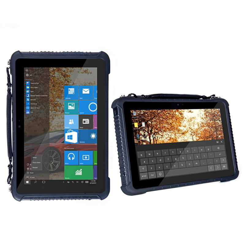 CHEAPEST factory 10 inch Win 10 Home/Pro RJ45 RS232 rugged tablet 4GRAM+64G ROM 4G Network NFC barcode rugged tablet pc