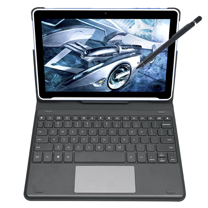 "2 in 1 Laptop HiDON 10.1"" 4G RAM Education Tablet PC with Keyboard Stylus pen for Students Educational Tablet"