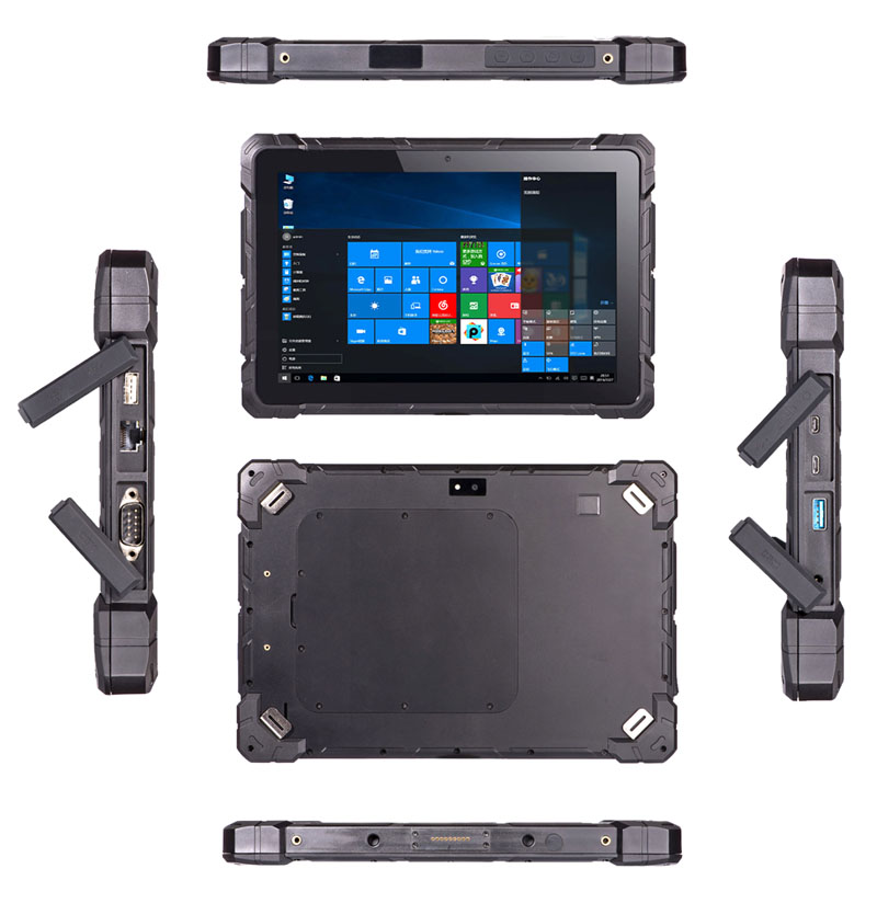 Factory 10 inch 1920*1200 Android 7.0 4GRAM+64G ROM rugged tablets 4G LTE RJ45 RS232 rugged tablet pc with 2D barcode