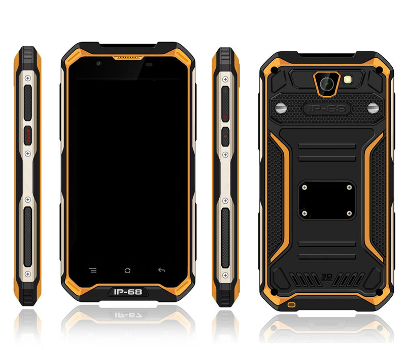 Factory Wholesale Low Price 5 inch IP68 Rugged Phone Android 6.0 4G LTE Mobile Phone with PTT Handheld Terminal