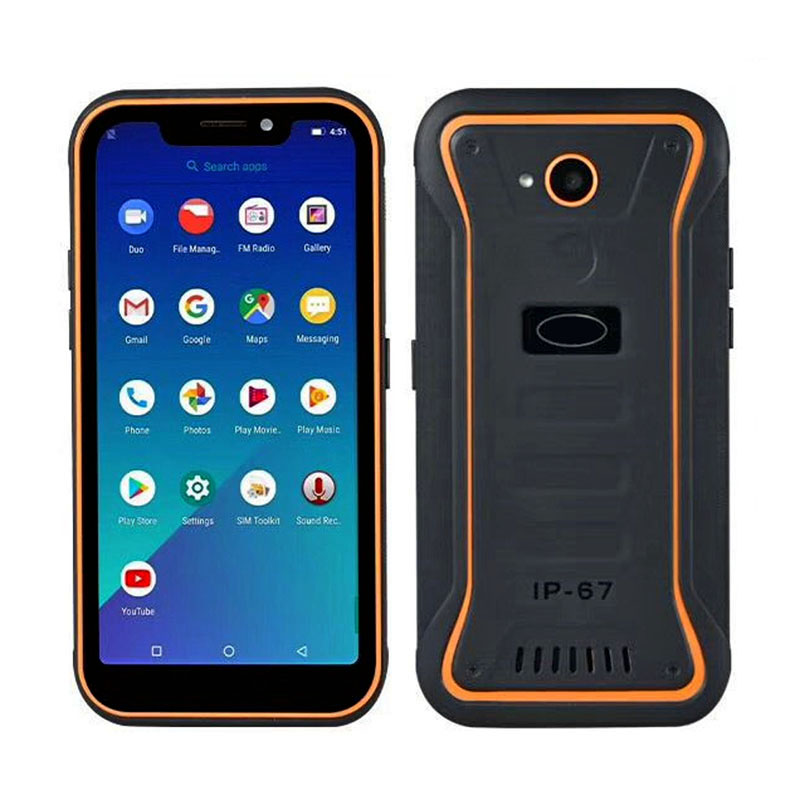 Factory Cheapest 5.5 inch MTK6739 Android 8.1 rugged phone 2G+16G IP67 Waterproof smartphone 4G LTE Mobile phone