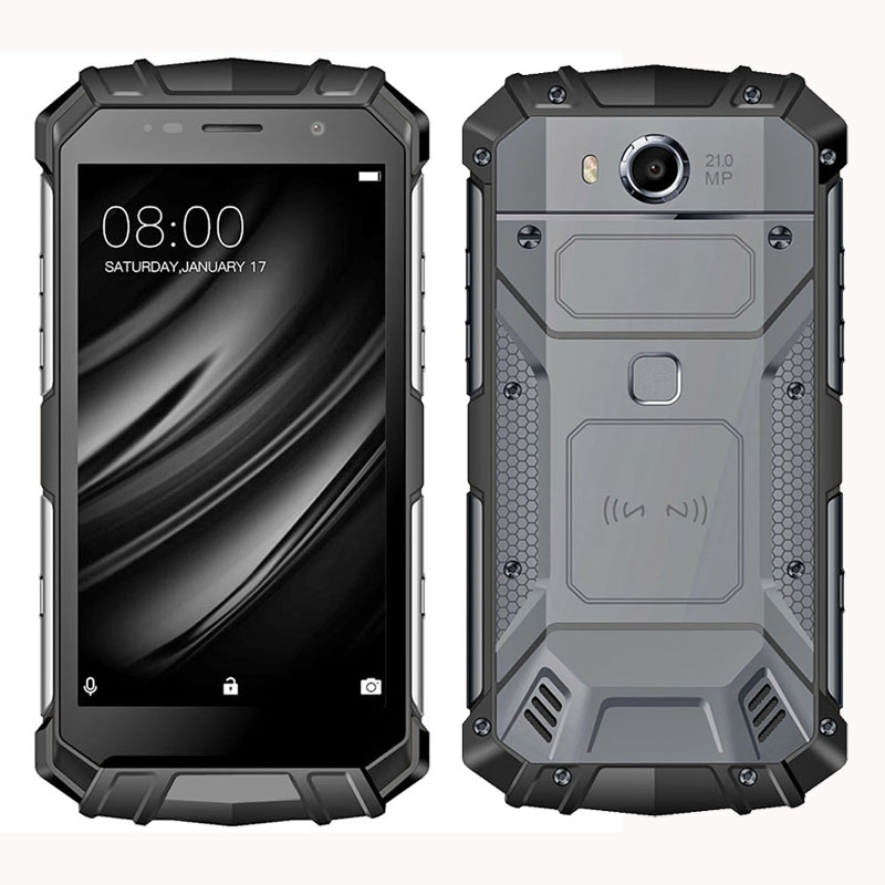 5.2 inch FHD 1920*1080 4G LTE Networks Android 8.1 Fingerprint NFC Octa-core 2.5GHz 21Mpxls Camera 6GB ram + 64GB ROM rugged phone waterproof phone rugged smartphone outdoor phone