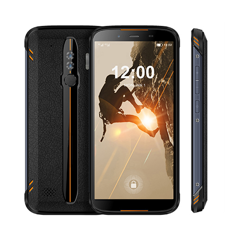 HiDON Low Price 5.5 inch Android 10 Waterproof Mobile Phone 2G RAM+16G ROM+4G LTE GPS Fingerprint NFC IP68 Rugged Phone