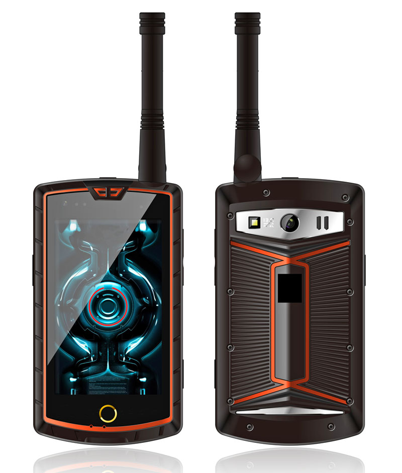 Cheapest factory 4 inch octa-core rugged Digital walkie-talkie rugged smart phone with NFC SOS
