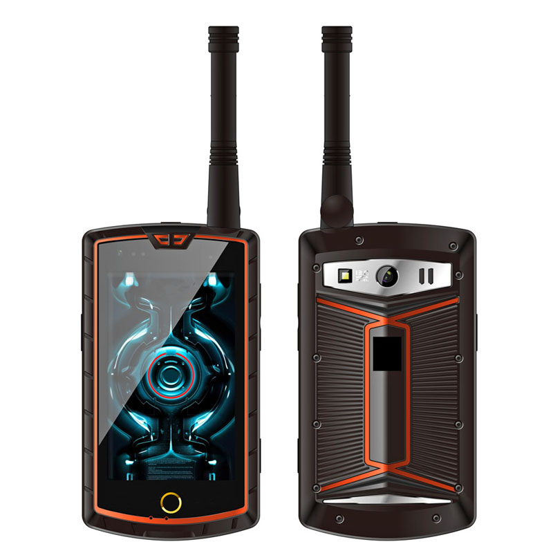 Cheapest Factory 4 inch MT6753 4G Android Mobile Phone 3G RAM+32G ROM NFC SOS Rugged phone DMR Walkie Talkie Smartphone