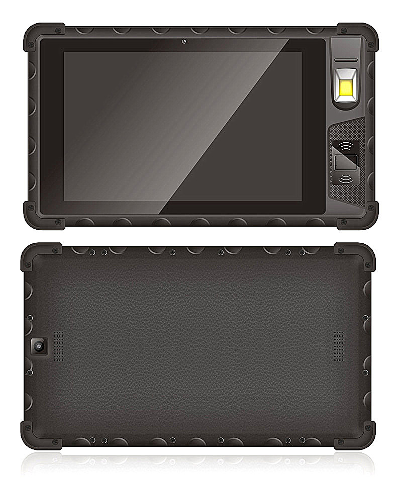 Cheapest 8'' inch Android7.0 Biometric Fingerprint Scanner Front NFC Front HF RFID Rugged Tablet Industrial Tablet PC Rugged Computer