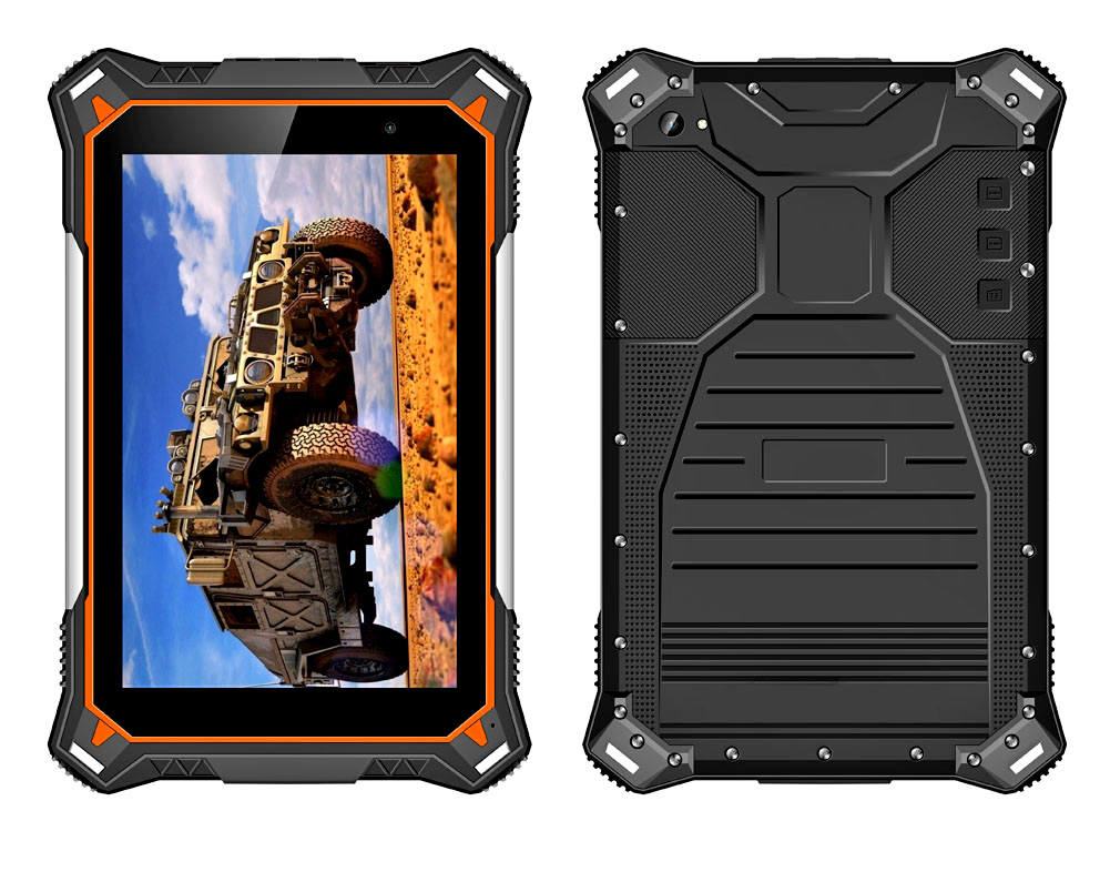 Factory 8 inch Octa-core Android 8.1 2G+32G Rugged Tablet PC with 10000mAh battery IP67 Waterproof Tablets with NFC