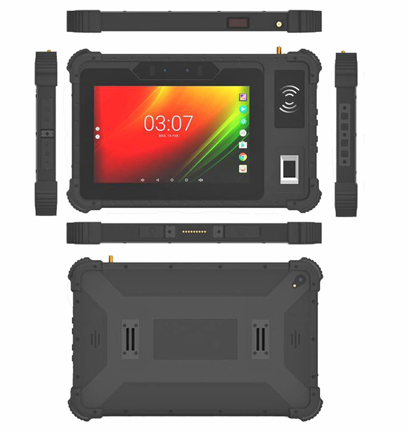 China HiDON 8 inch Rugged Tablet Octa-core Android 10 Ethernet RJ45 RS232 Port Industrial Tablet PC