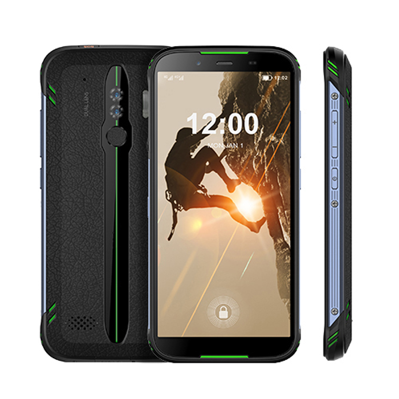 "Cheapest 5.5"" Industrial Android Phone Fingerprint NFC SOS Android 10 IP68 Rugged Smartphone Dual SIM 4G LTE Mobile Phone"